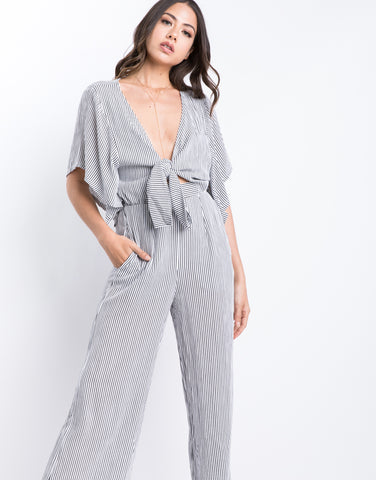 Draw The Line Tie Front Jumpsuit