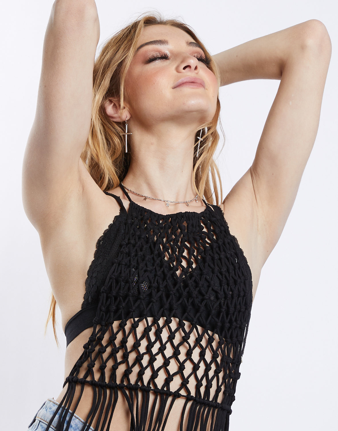 Dream Catcher Crochet Halter Top