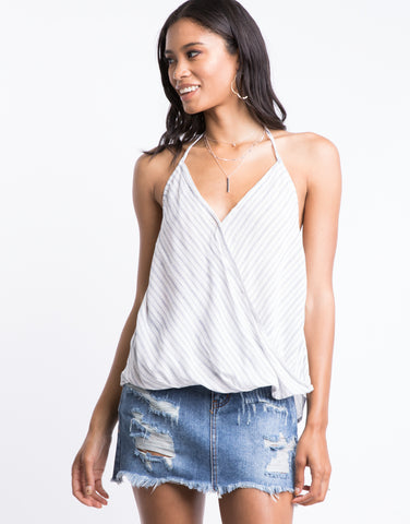 Dreamy Striped Halter Top