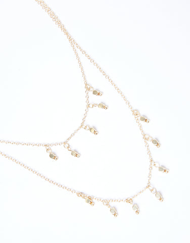 Dripping In Gold Layered Necklace