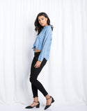 Drop Shoulder Denim Top