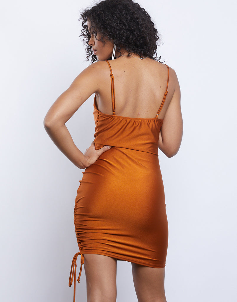 Effortless Ruched Mini Dress Dresses -2020AVE