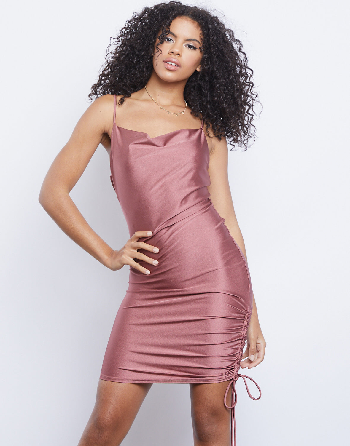 Effortless Ruched Mini Dress