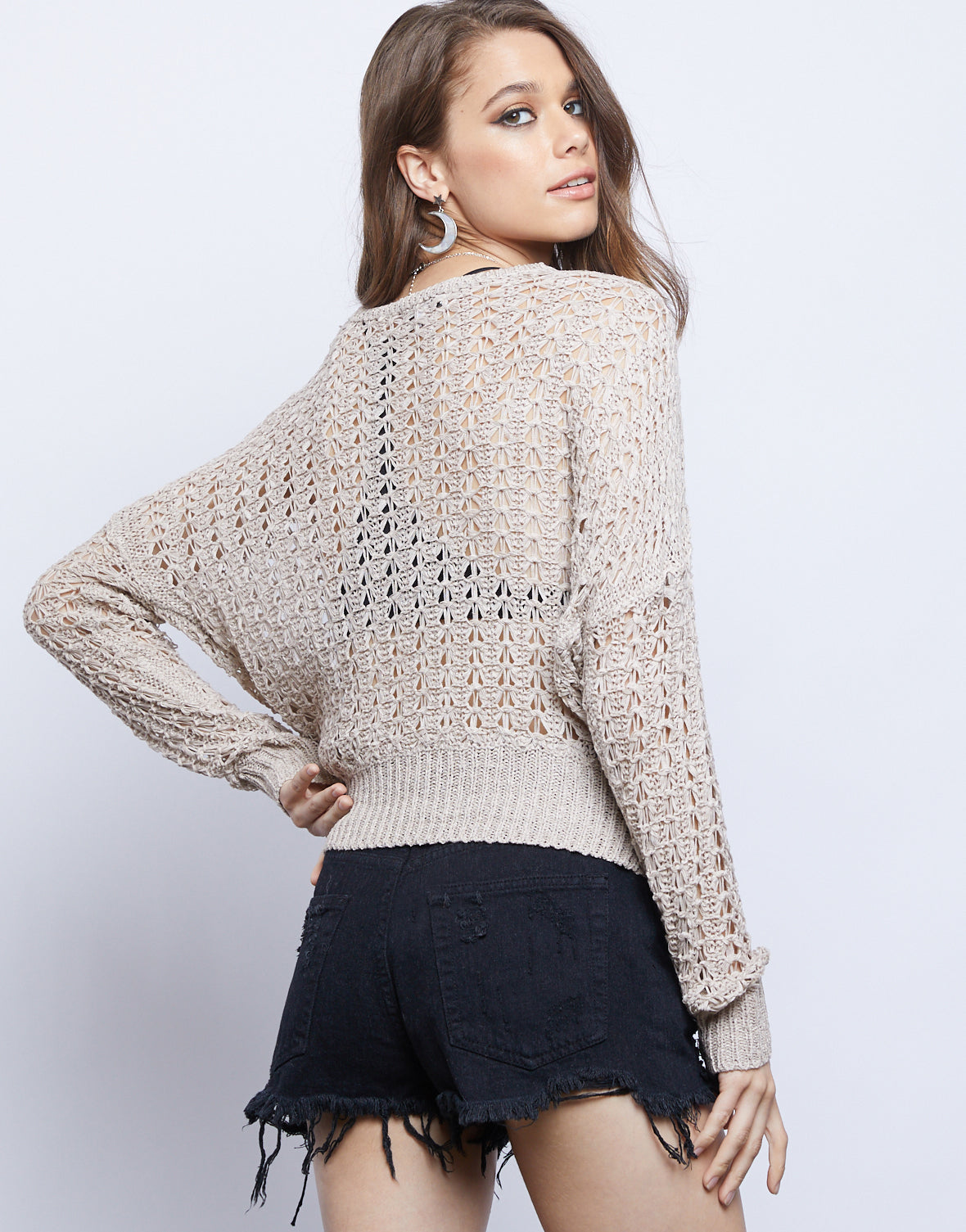 Emberly Open Knit Sweater