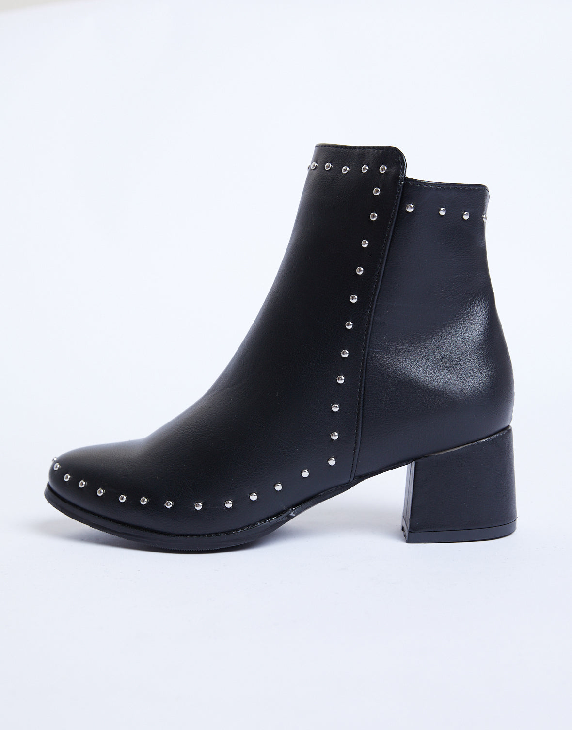 Emerson Studded Booties - Black Ankle