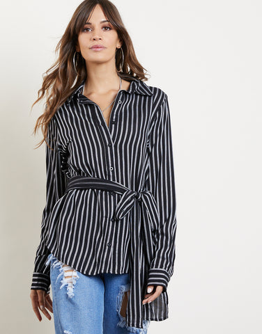 End Of The Line Striped Top