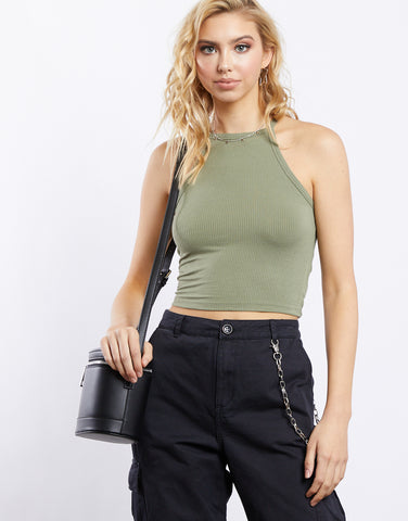 City of Dreams Ribbed Knit Crop Top