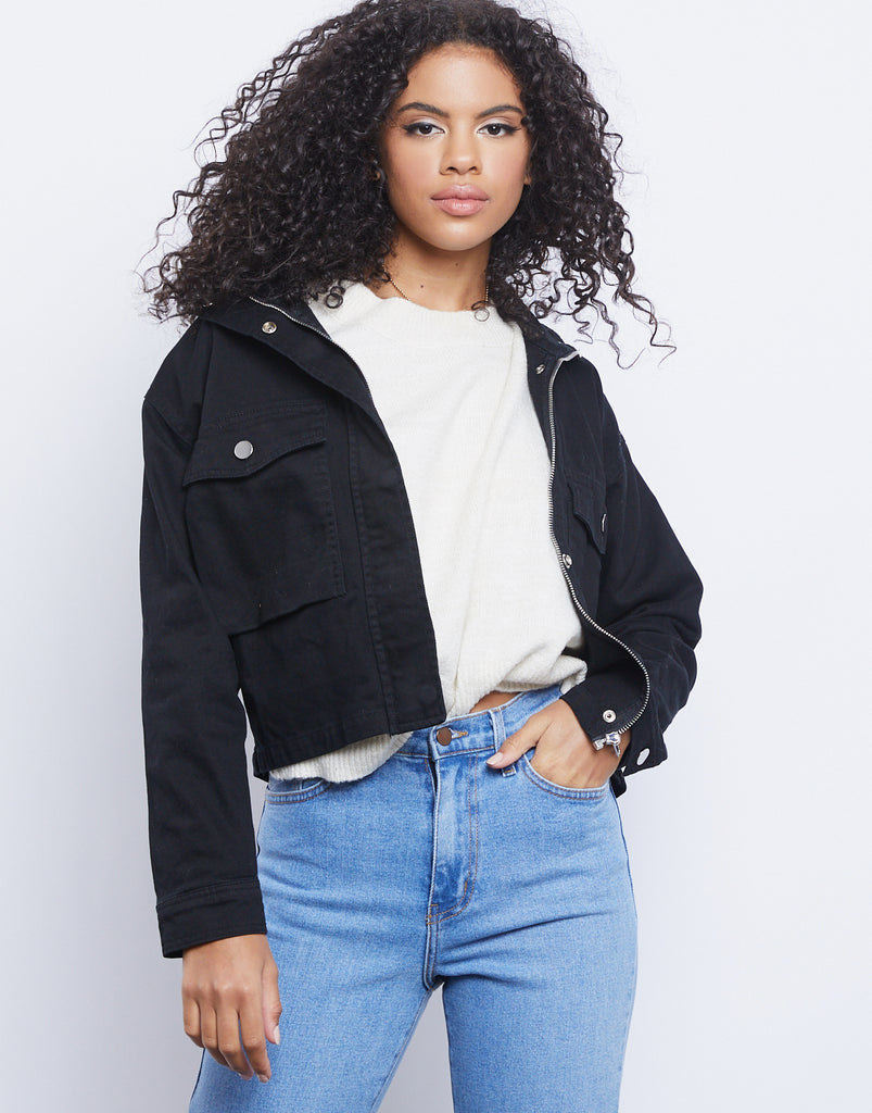 Everyday Zip Up Jacket Outerwear Black Small -2020AVE