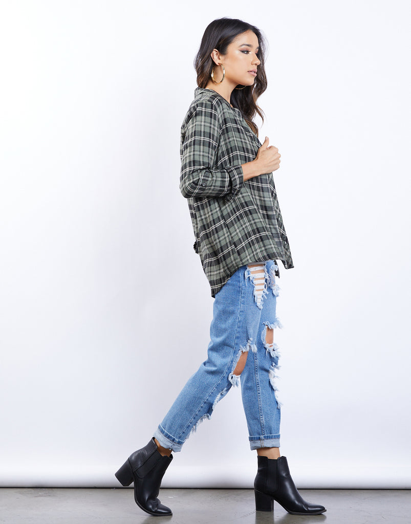 Fall Day Plaid Shirt Tops -2020AVE