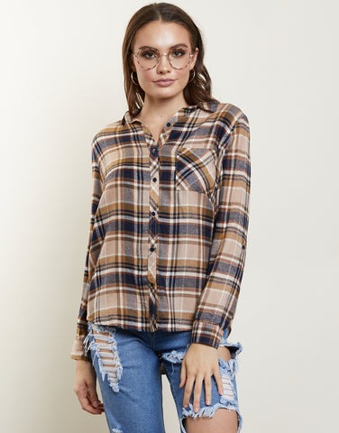 Fallin' For Plaid Flannel Shirt