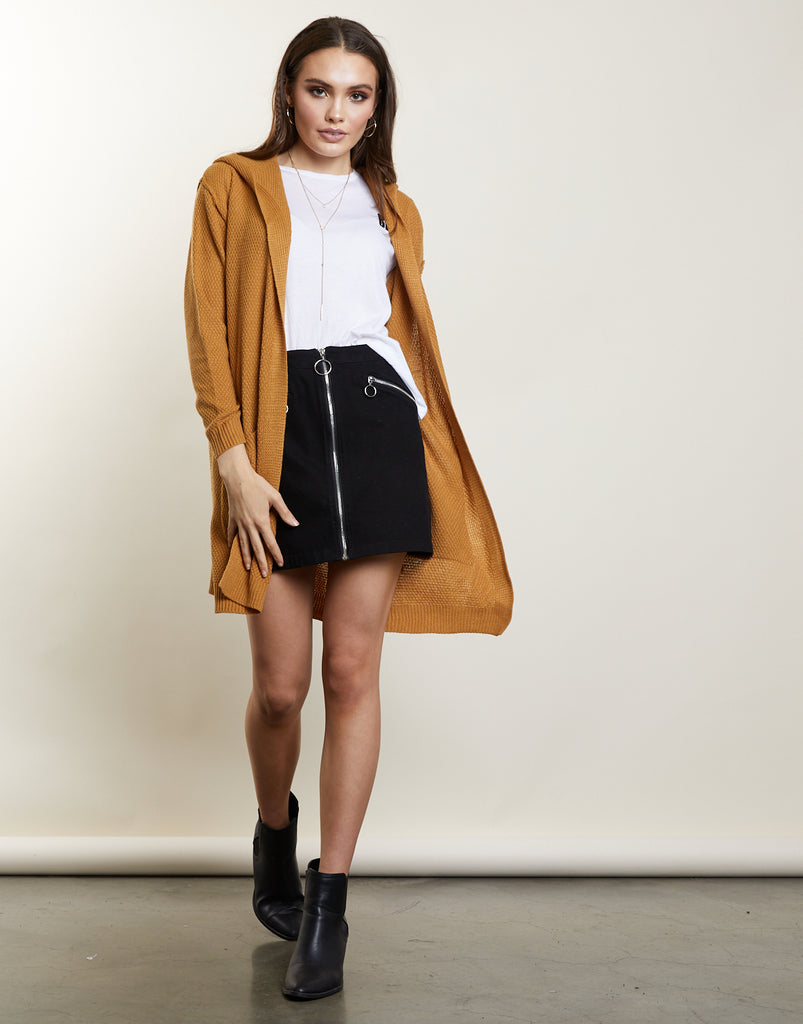 Falling For You Hooded Cardigan Outerwear -2020AVE