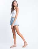 Feel Blue Ruffle Shorts