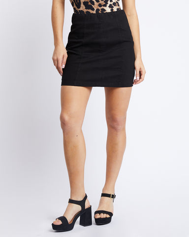 Feeling Pretty Black Mini Skirt
