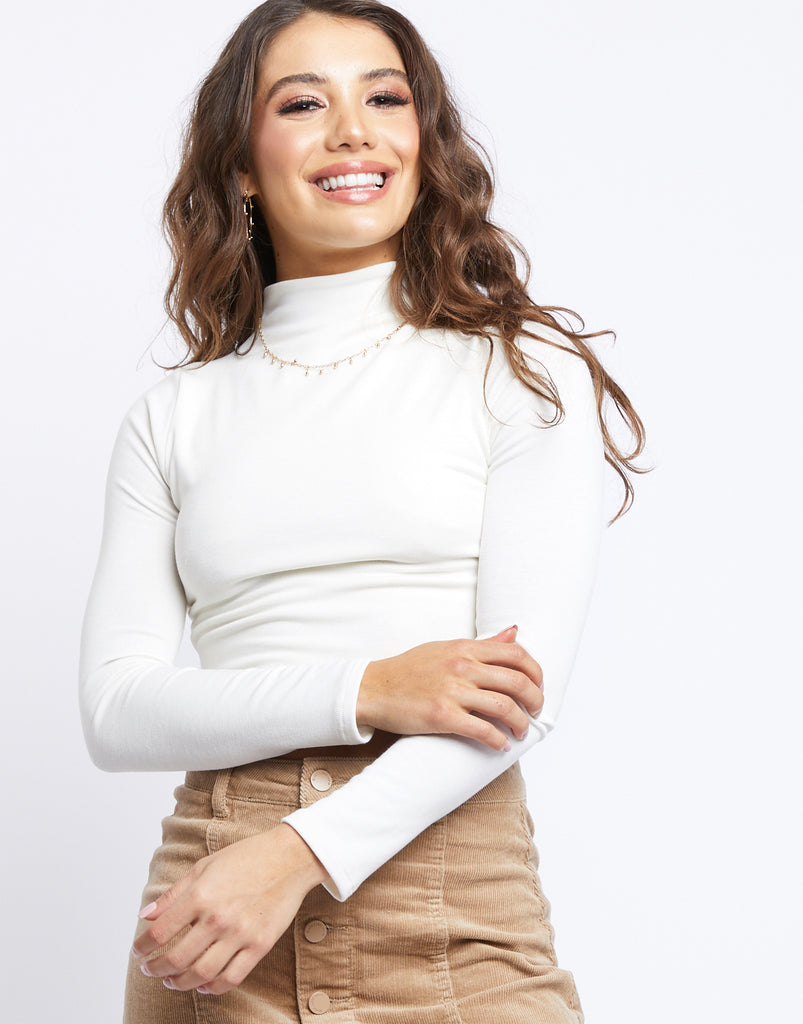 Find A Way Crop Top Tops Ivory Small -2020AVE