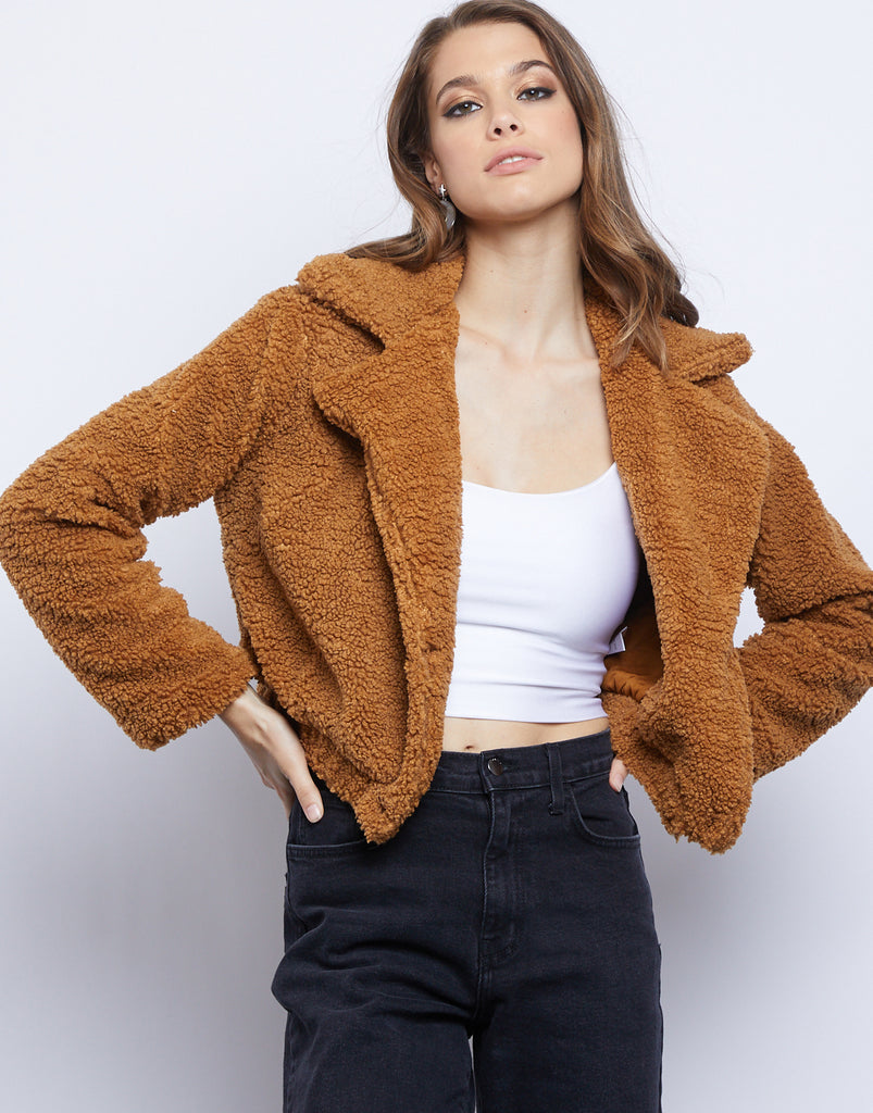 Fireside Cropped Teddy Coat Outerwear -2020AVE