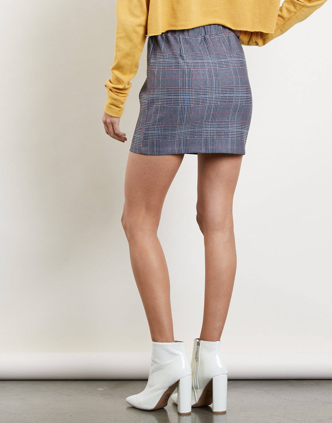 First Impressions Plaid Skirt