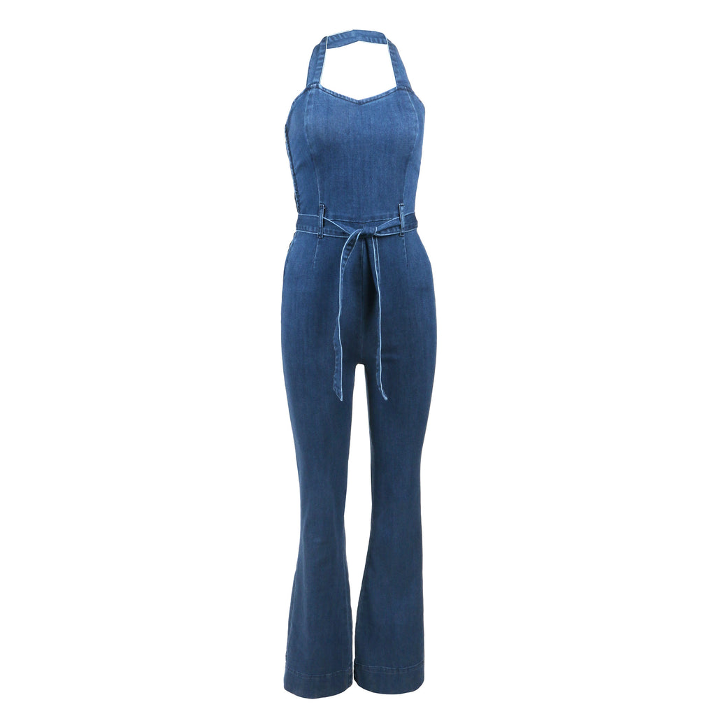 Flared Denim Jumpsuit - 2020AVE