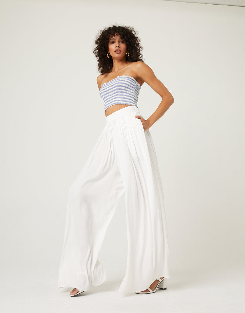 Flowy Satin Pants Bottoms -2020AVE