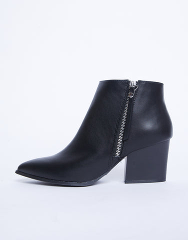 Freya Black Booties