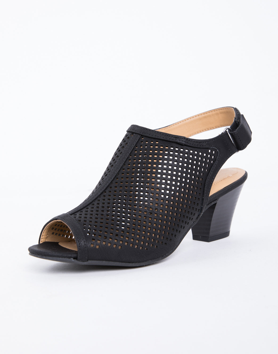 Friday Perforated Chunky Heels