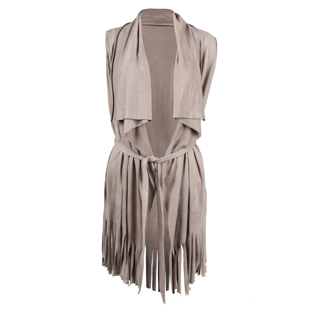 Fringed Out Suede Vest - 2020AVE