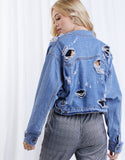 Game Changer Cropped Denim Jacket