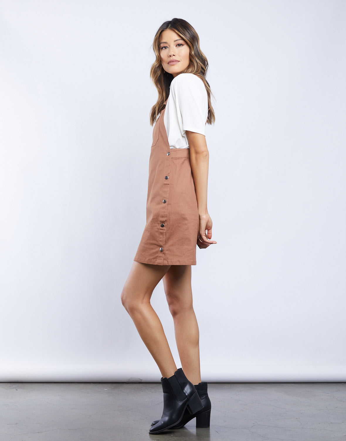 Genevieve Gardener Overall Dress