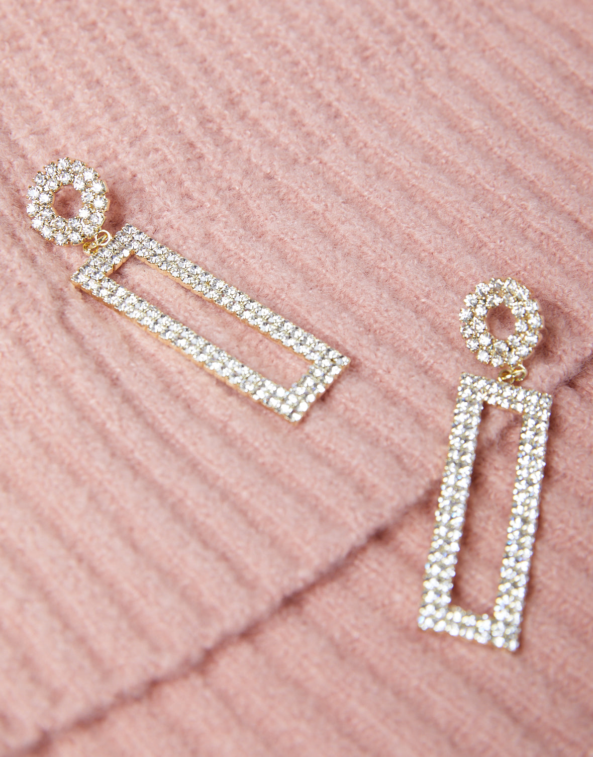 Geometric Rhinestone Earrings