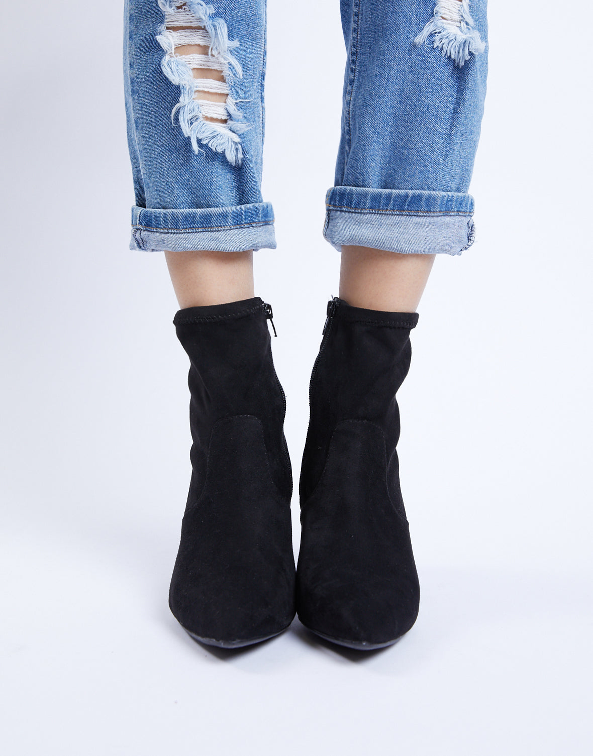 Get To The Point Sock Booties