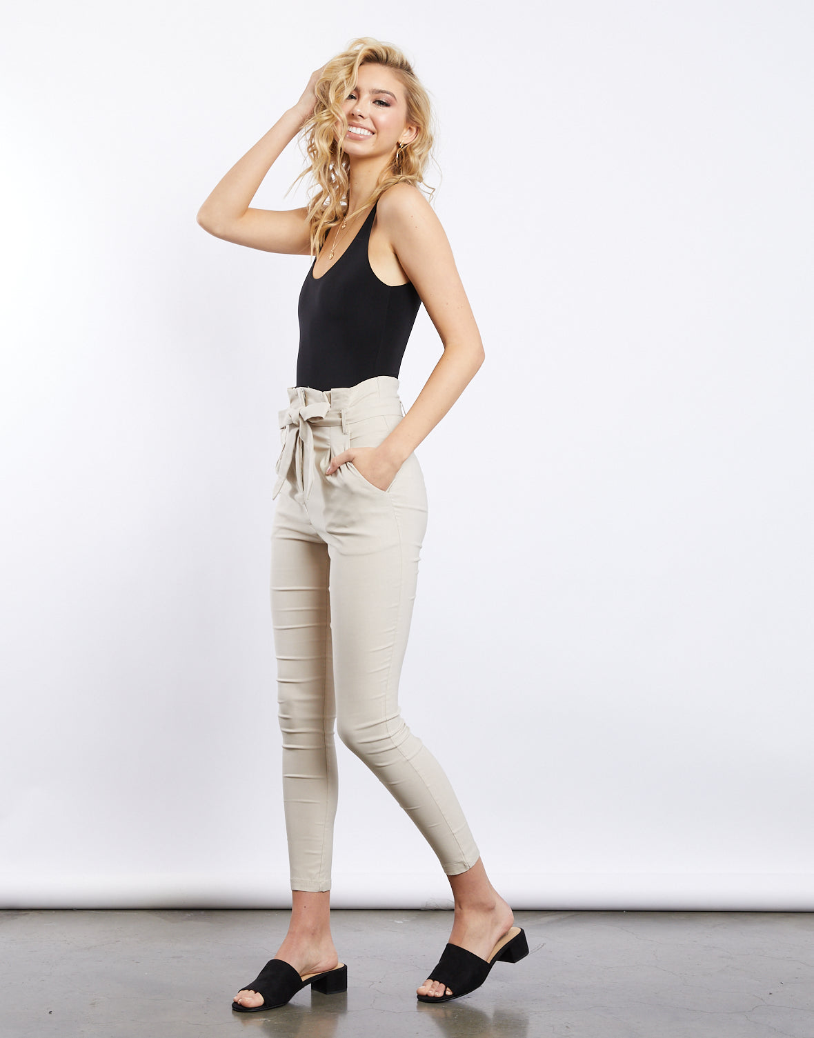 Goals Keeper Skinny Paper Bag Pants