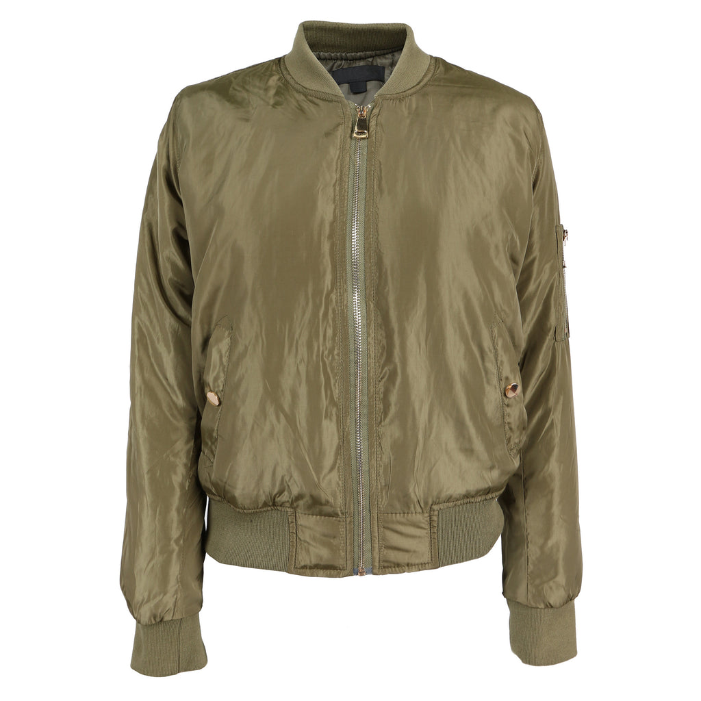 Gold Zippered Bomber Jacket - 2020AVE