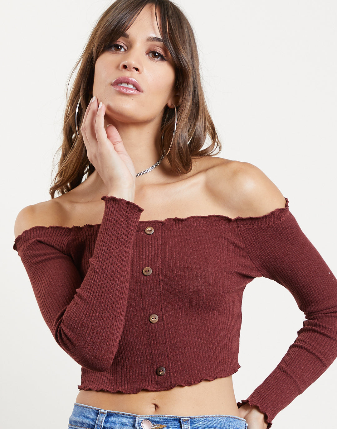 Golden Coast Frilly Top