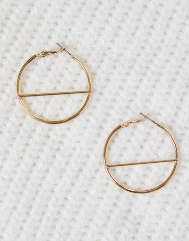 Golden Envy Hoop Earrings