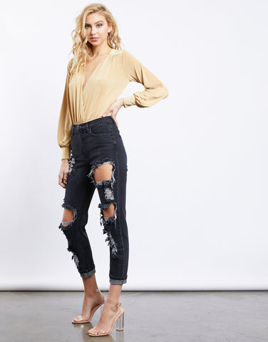 Golden Hour Surplice Bodysuit