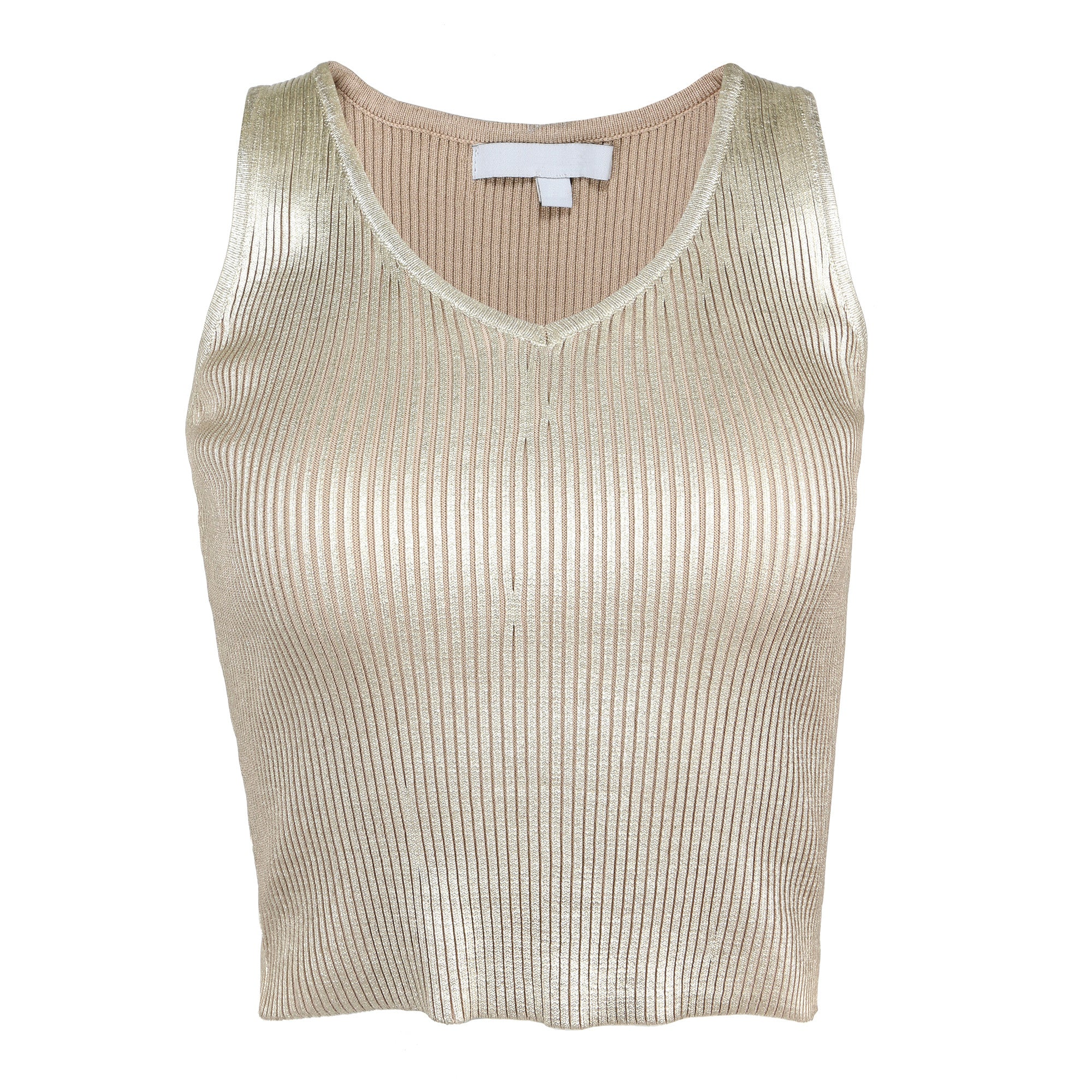 Golden Ribbed Top - 2020AVE
