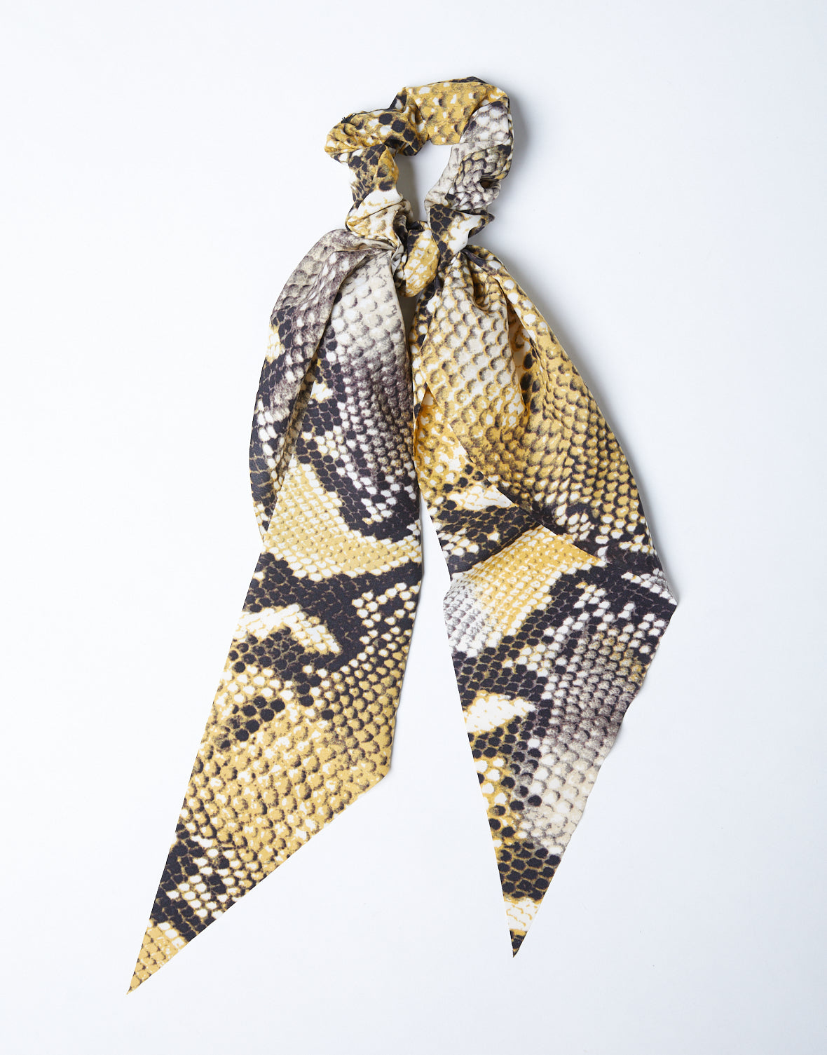 Golden Snakeskin Scarf And Scrunchie Set