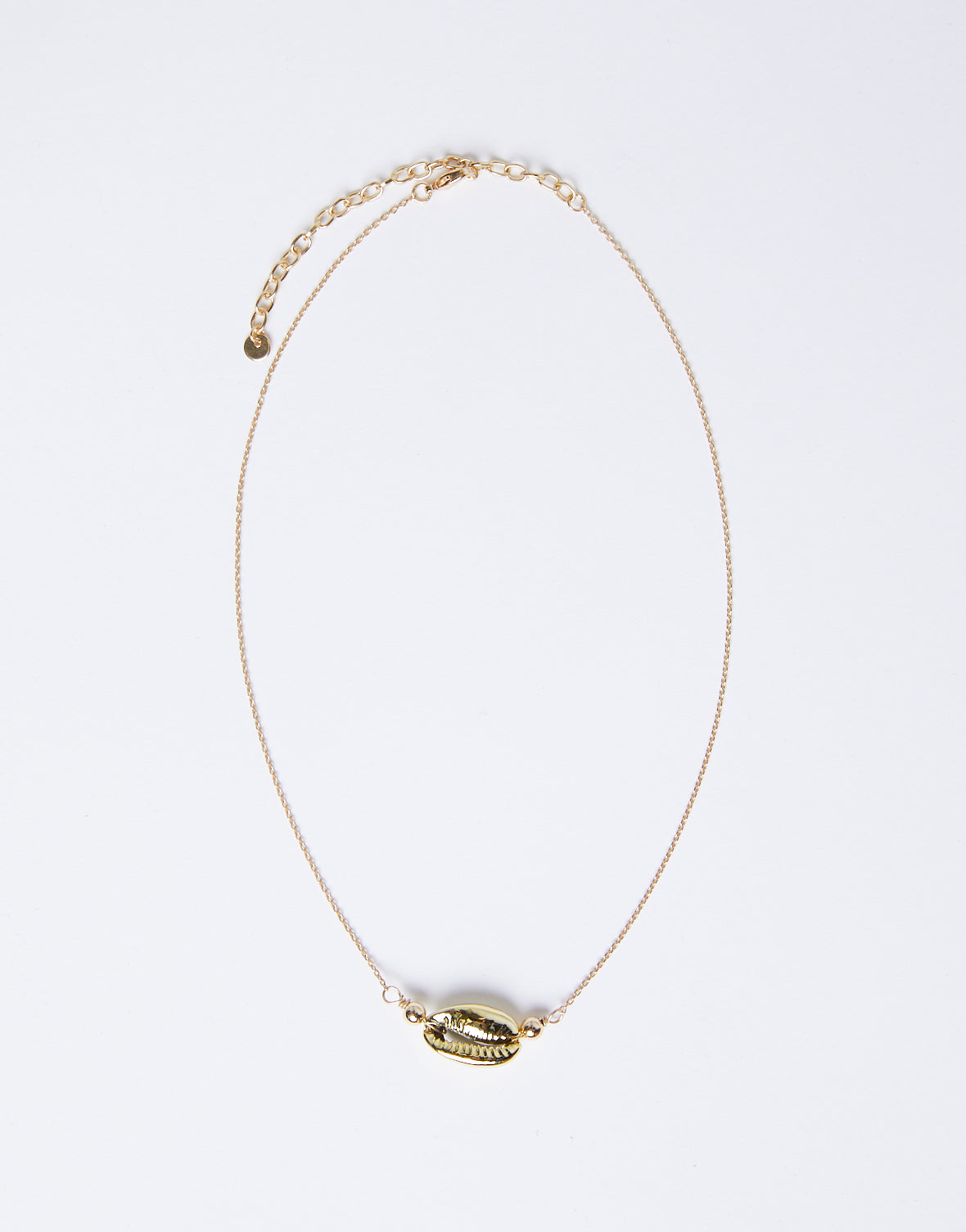 Golden Touch Shell Choker Necklace