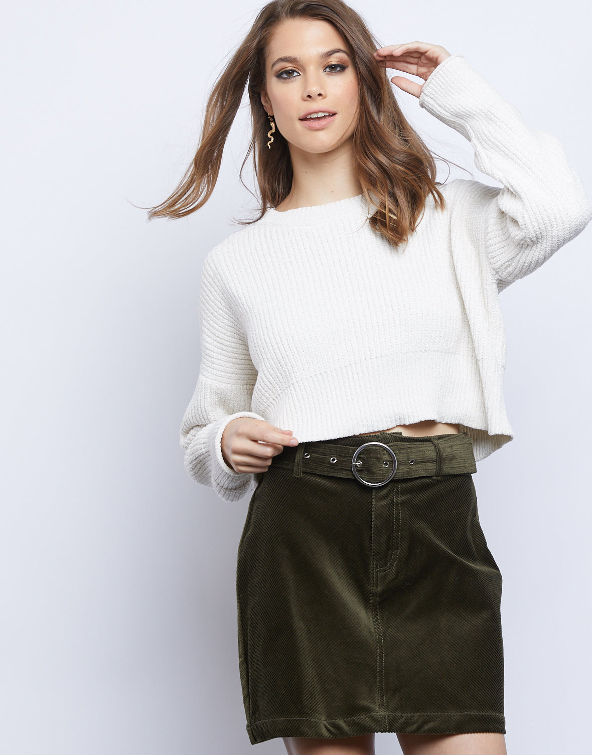 Good Vibes Corduroy Skirt