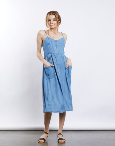 Gracie Denim Midi Dress