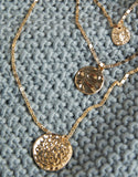 Hammered Coins Layered Necklace