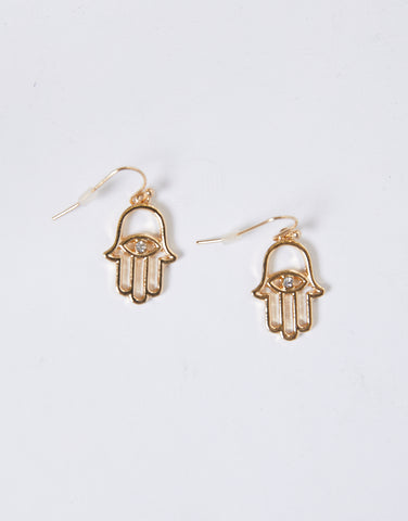 Hamsa Evil Eye Earrings