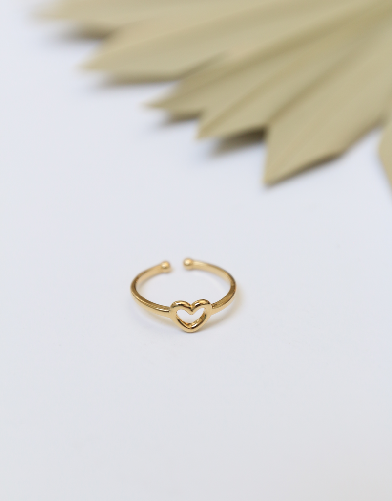 Heart Strings Adjustable Ring Jewelry Gold One Size -2020AVE