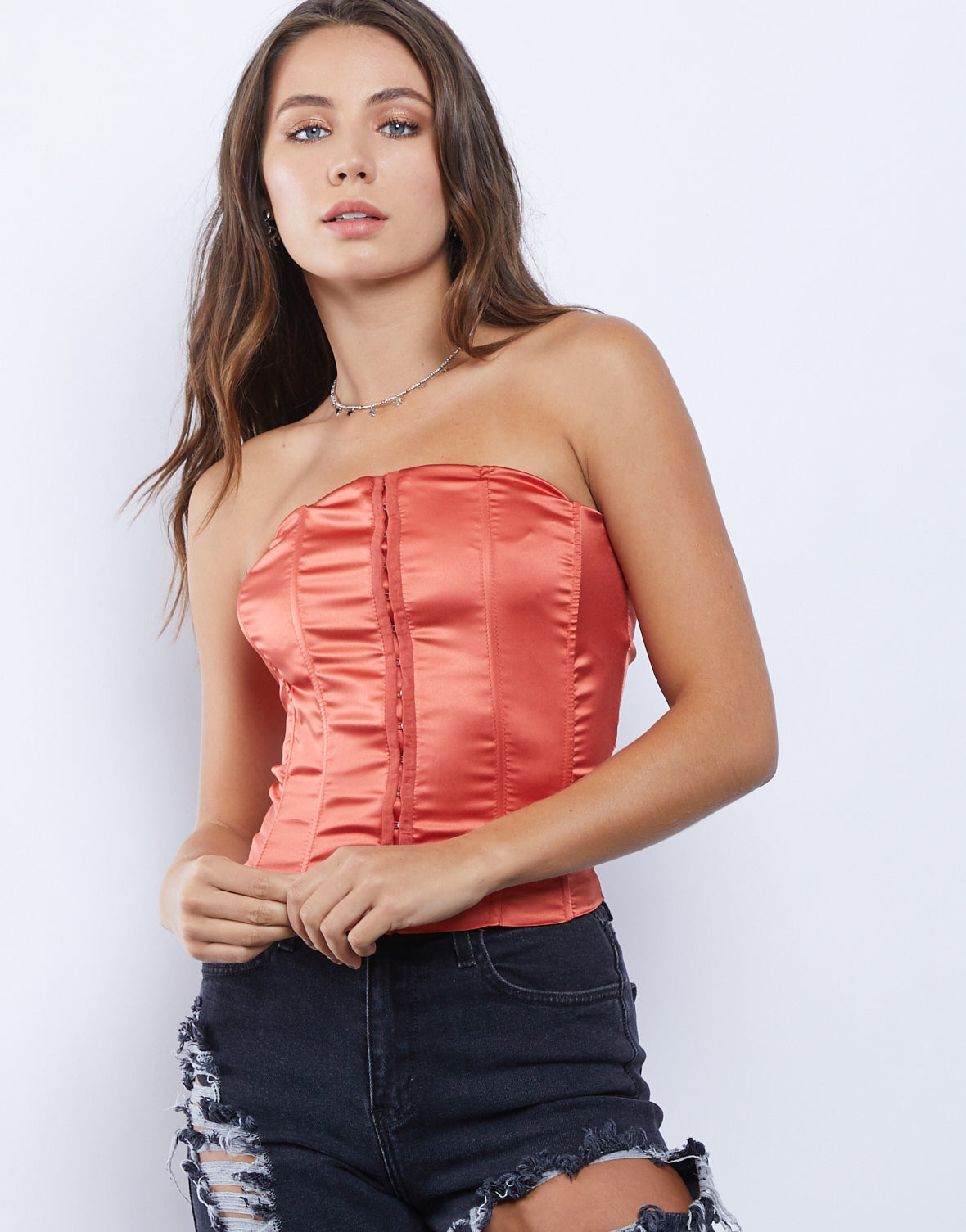 High Expectations Lace Up Corset Top