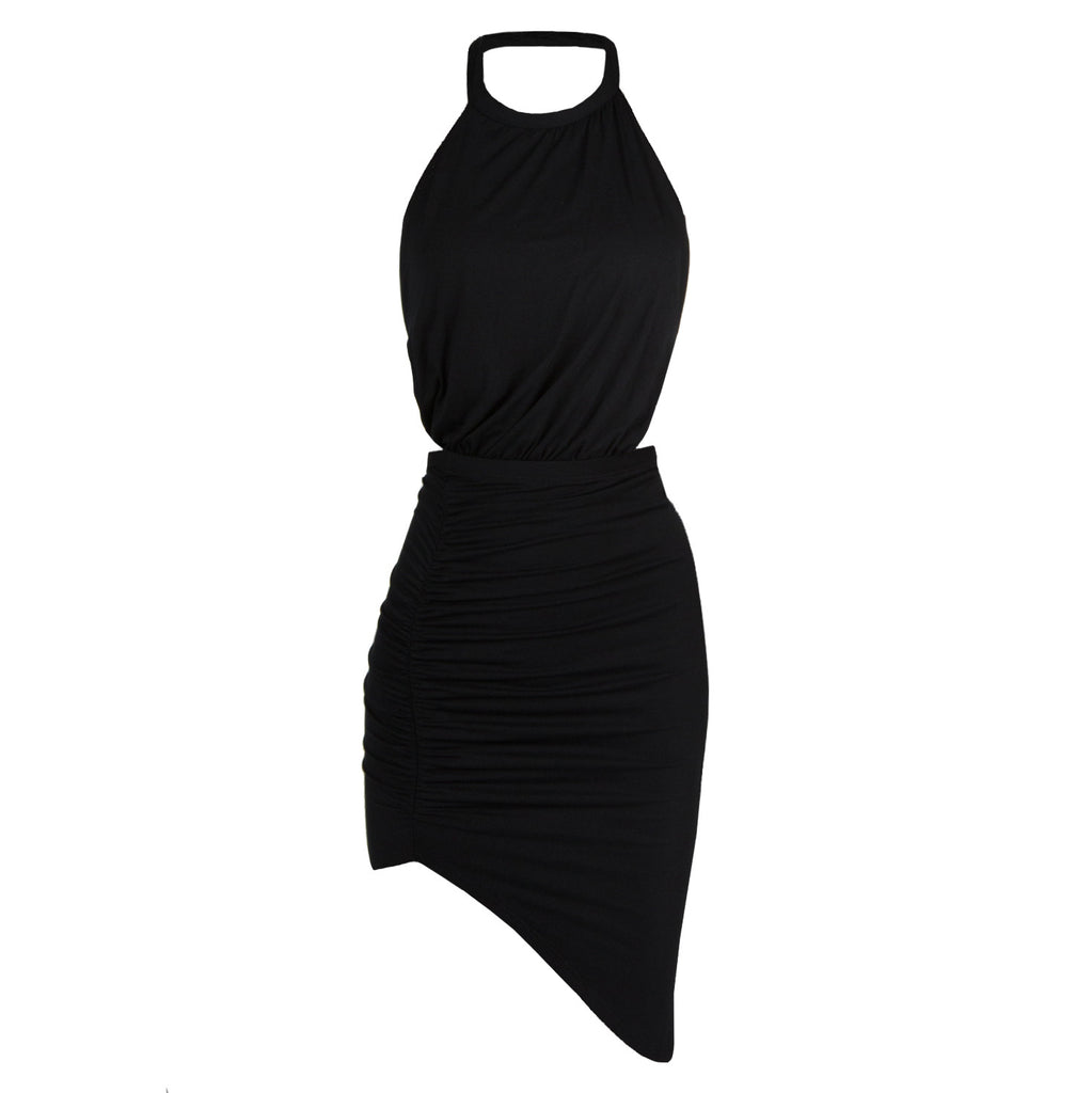 Ruched Halter Dress - 2020AVE