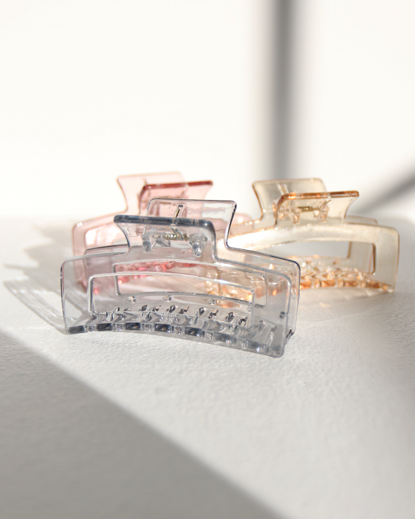 Rectangular Clear Hair Clip Accessories -2020AVE