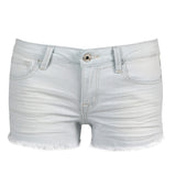 Super Light Wash Frayed Denim Shorts - 2020AVE