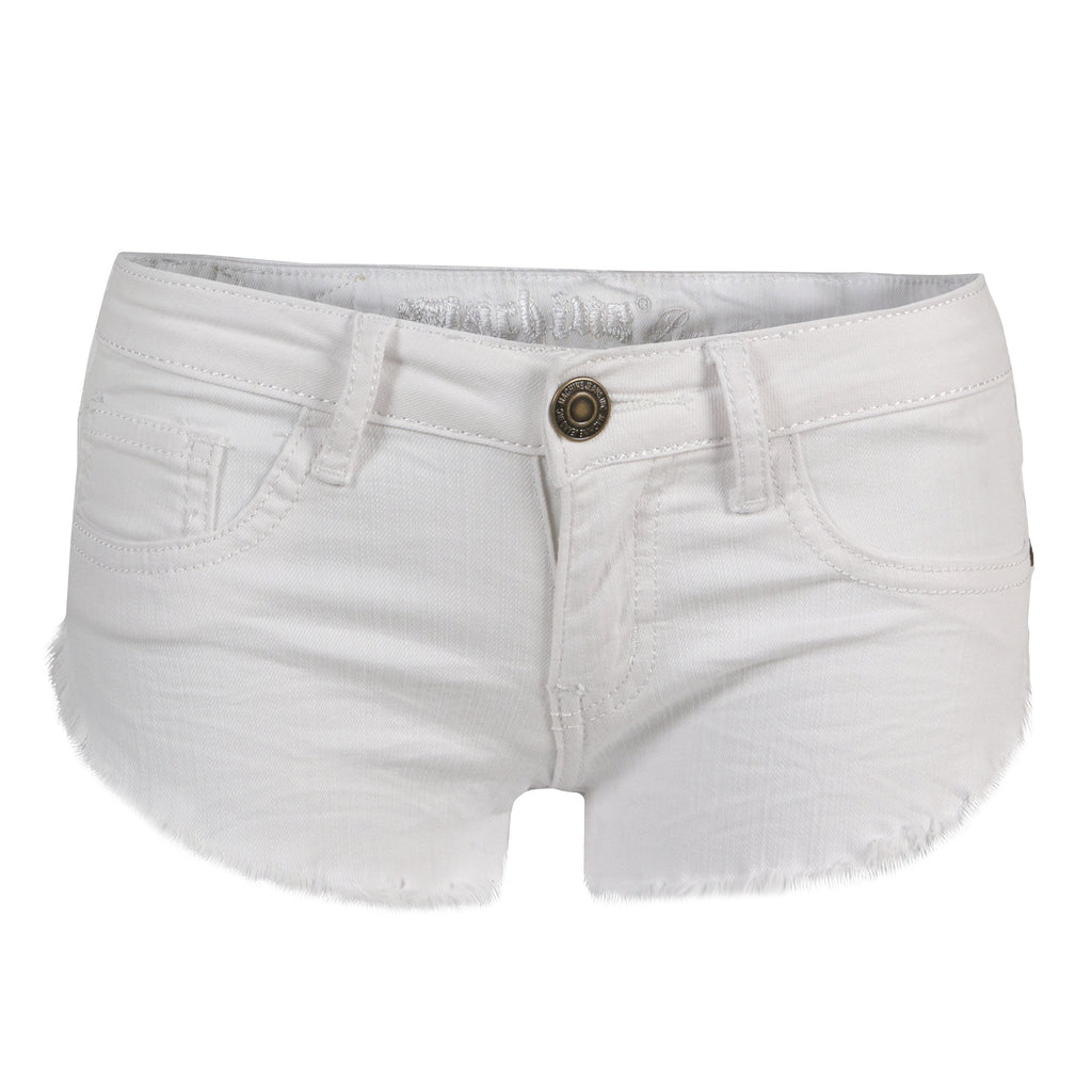 Summer White Frayed Denim Shorts - 2020AVE