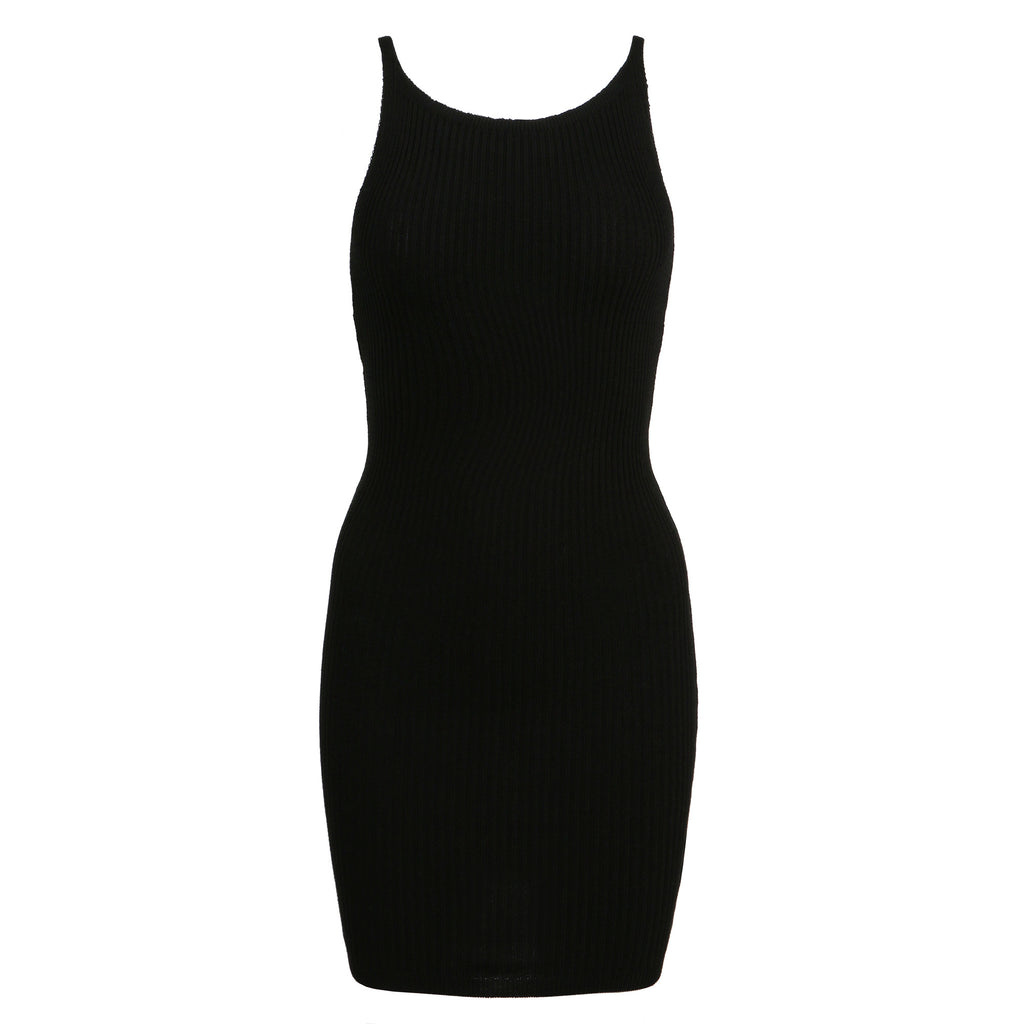 Simple Ribbed Bodycon Dress - 2020AVE