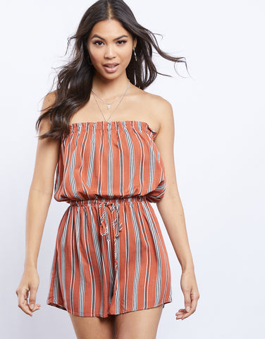 Searching For You Striped Romper