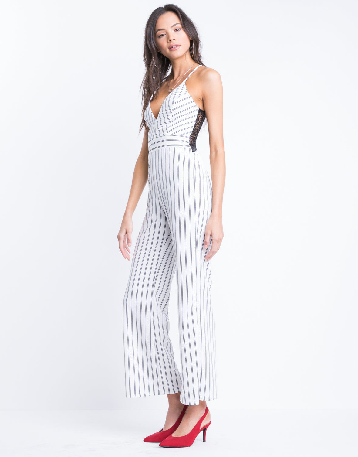 In Line Lacey Jumpsuit